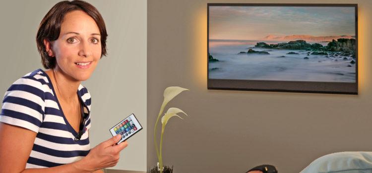 Ein Lichtband für Fernseh-Wellness